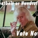 Jimmy Saville seatbelt handcuffs survey